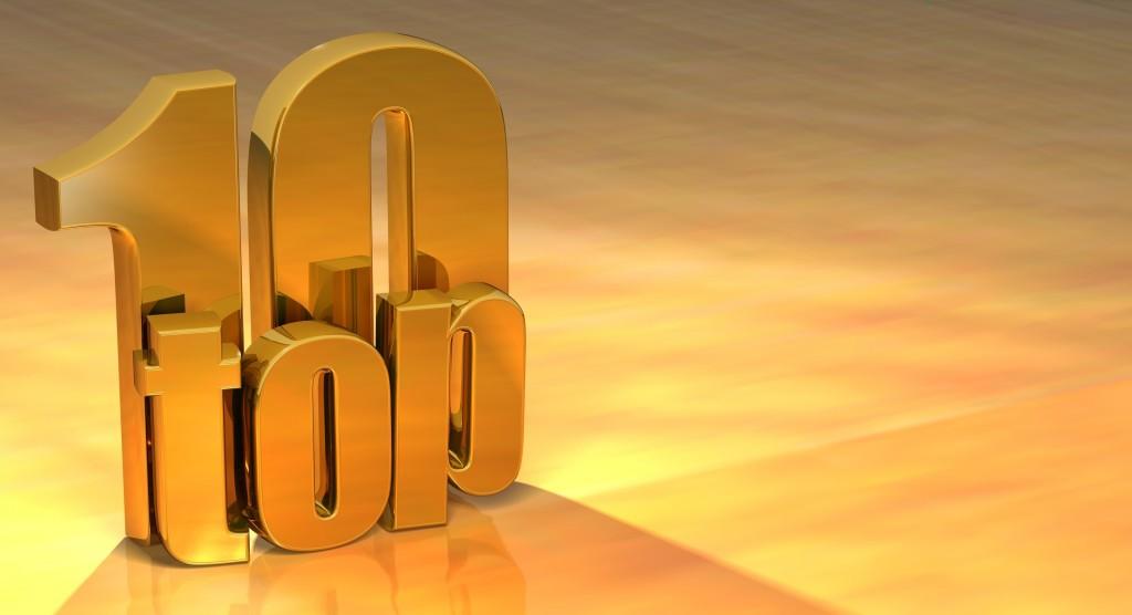 3D Top 10 Gold Text